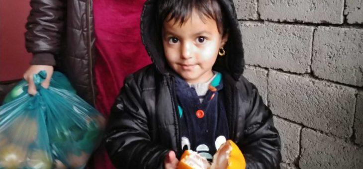 Frische Früchte für jesidische Flüchtlingskinder – nicht nur zu Weihnachten