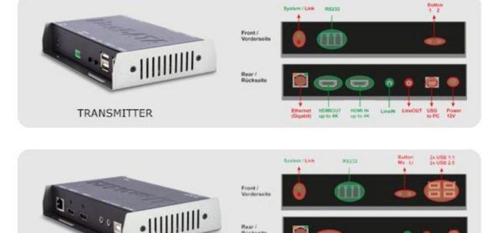 LionDATA 4K2K HDMI over IP + CATX KVM Extender Pro – Flexibel in der Anwendung
