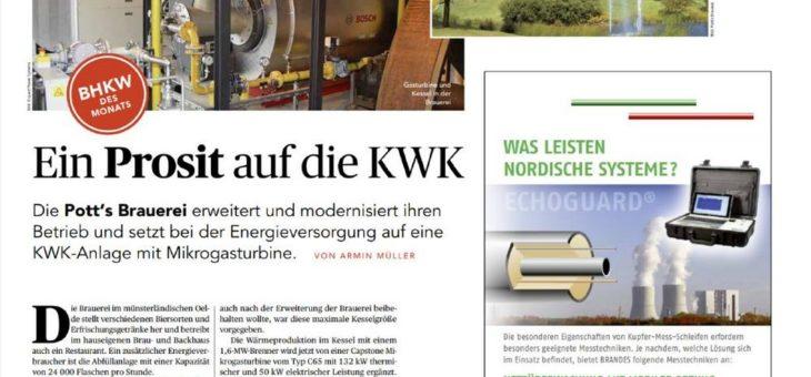 """KWK-Anlage in Brauerei wird """"BHKW des Monats"""""""