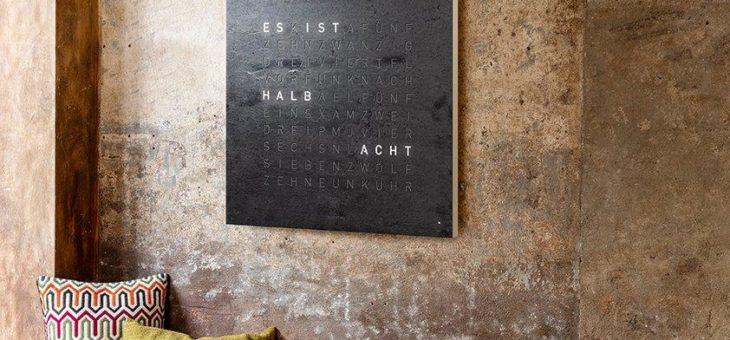 QLOCKTWO® creator's edition metamorphite  – in Stein gemeißelt