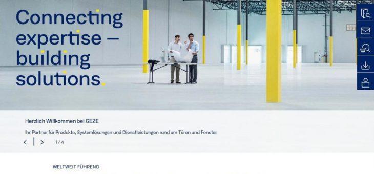 GEZE stellt seine Website für Kunden und Partner neu auf
