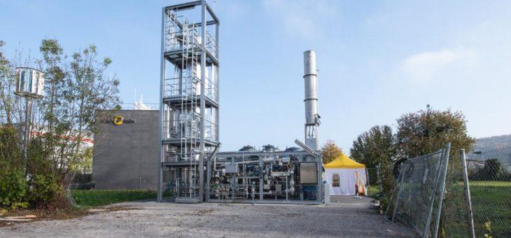 STORE&GO-Anlage macht erneuerbare Energie speicherbar