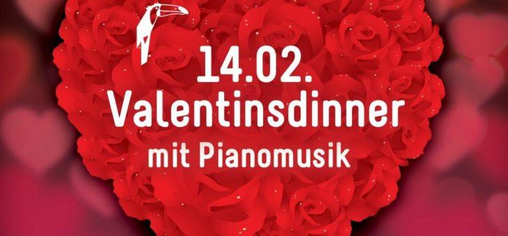 Romantisches Menü mit Piano und mehr Valentinstag bei Van der Valk  in der Seenplatte