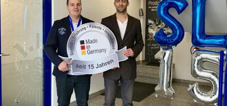 "15 Jahre energiesparendes Licht ""made in Germany"""