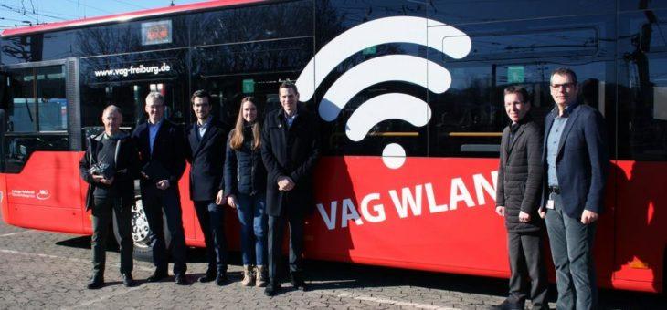 Testbetrieb: Kostenloses WLAN in Bussen der VAG