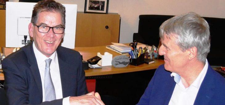 Bundesentwicklungsminister Dr. Gerd Müller trifft Andreas Schöfbeck