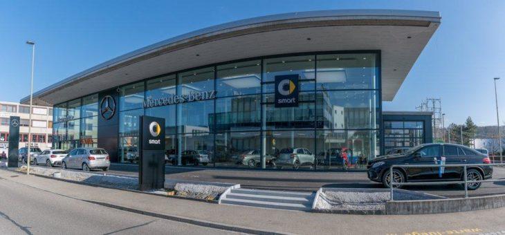 Mercedes-Benz KESTENHOLZ eröffnet neues PW-Center in Oberwil (BL), Schweiz