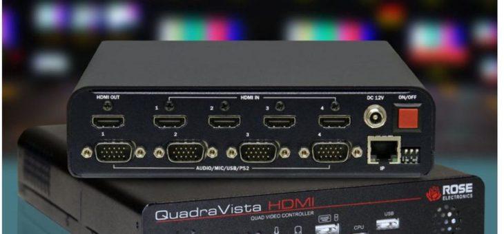 Die itworx-pro GmbH aus Hamburg liefert den Rose Electronics Single User KVM-Switch QuadraVisa HDMI für den Sonderfahrzeugbau