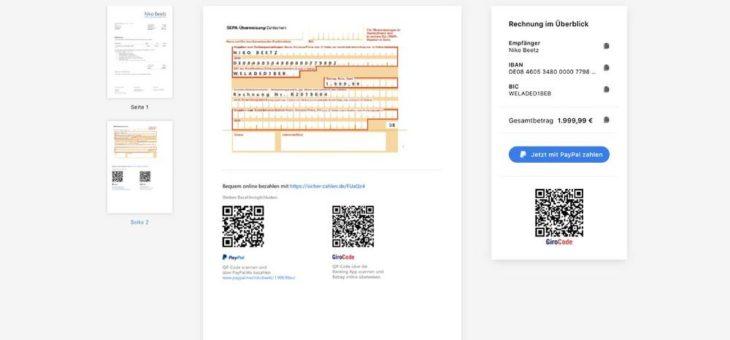 invoiz nun mit Funktion zur automatischen Erstellung vorausgefüllter Überweisungsträger