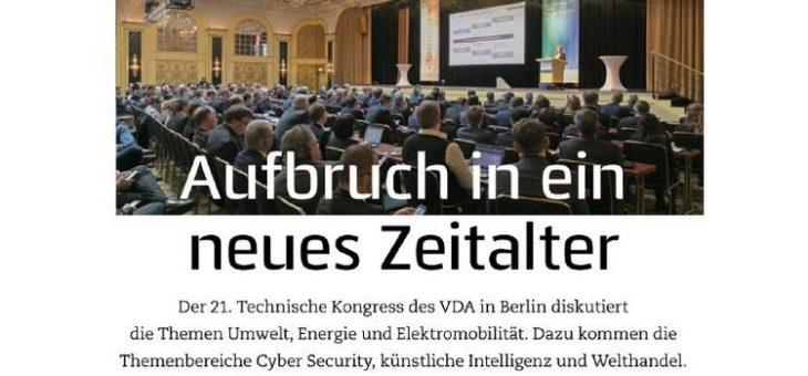 VISION mobility auf dem 21. Technischen Kongress des VDA