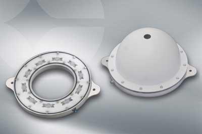 Neue Dom- und Ring-Beleuchtungen für raue Umgebungsbedingungen