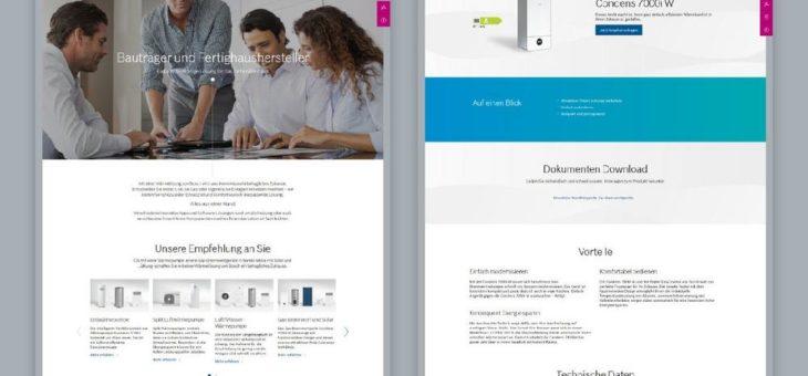 Website Relaunch für Bosch Thermotechnik Deutschland