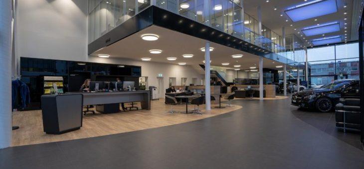 Erstes Mercedes-Benz Autohaus der  KESTENHOLZ Neubauten nach internationalem  Daimler Standard MAR2020 in Oberwil fertiggestellt