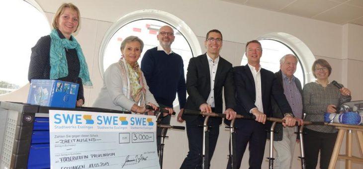 Stadtwerke Esslingen spenden zugunsten Kinder- und Jugendpsychiatrie am Klinikum