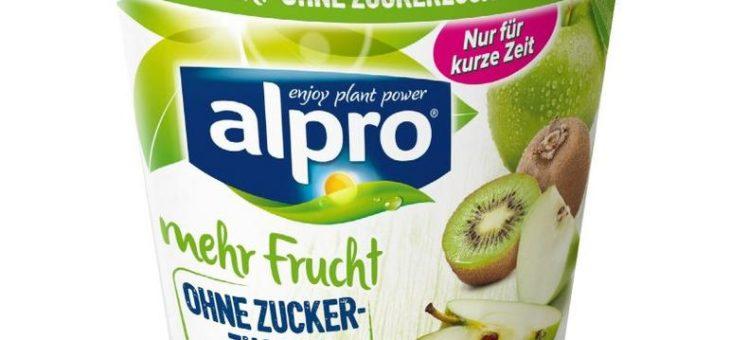 Die neue Sommeredition Apfel-Kiwi von Alpro: fruchtig, frisch und ohne Zuckerzusatz!