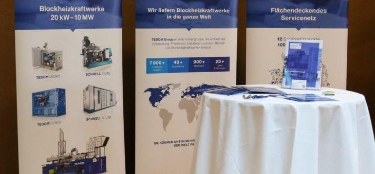 TEDOM SCHNELL GmbH ist Aussteller auf der BHKW-Jahreskonferenz 2019