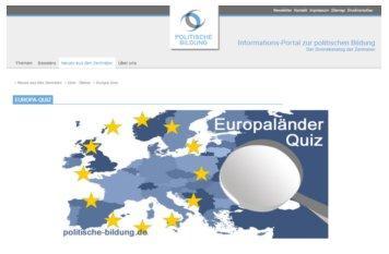 Europa-Quiz gestartet im Vorfeld der Europawahl auf politische-bildung.de