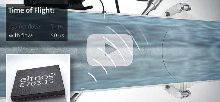 Elmos: Hochpräzise Durchfluss- und Temperaturmessung auf Ultraschallbasis