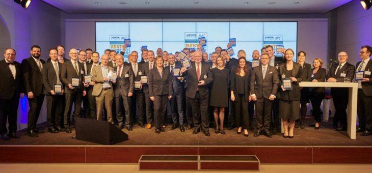 """Gewinner der Wahl """"Beste Logistik Marke 2019"""" geehrt"""
