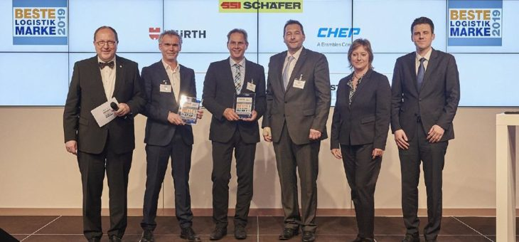 """SSI Schäfer als """"Beste Logistik Marke 2019"""" in der Kategorie Behälter ausgezeichnet"""