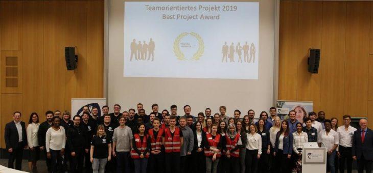 5. Verleihung des Best Project Award für neue Projekte der Studierenden des 6. Semesters an der Hochschule Worms