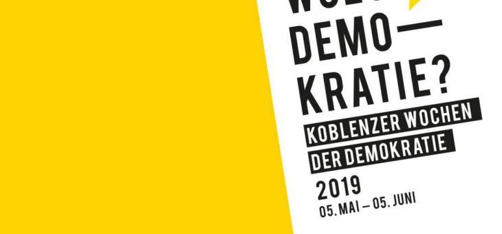 Koblenzer Wochen der Demokratie – zfh beteiligt sich