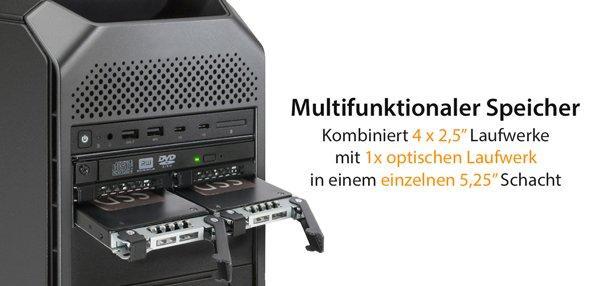 Produktvorstellung: ICY DOCK ToughArmor MB604SPO-B 4 x 2,5″ SAS/SATA SSD/HDD & (Ultra) Slim ODD Wechselrahmen