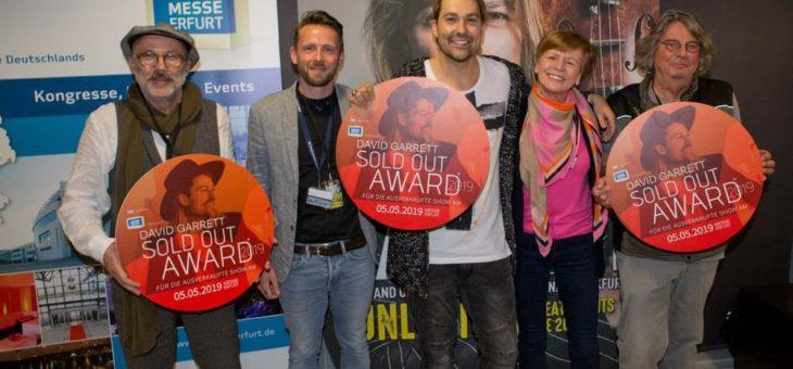 Geigenstar David Garrett erhielt SOLD OUT AWARD der Messe Erfurt