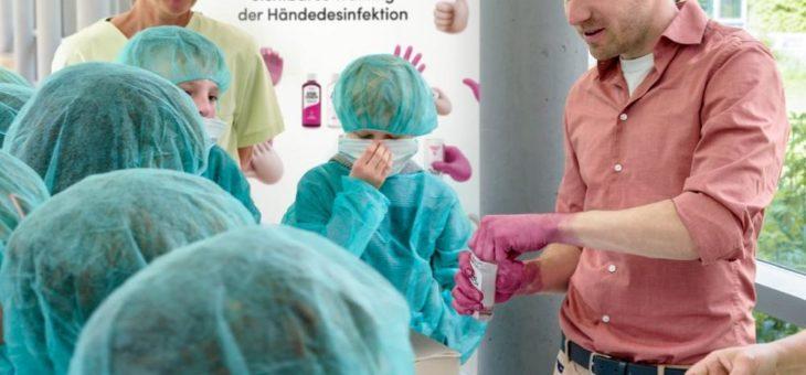 Pink bedeutet desinfiziert