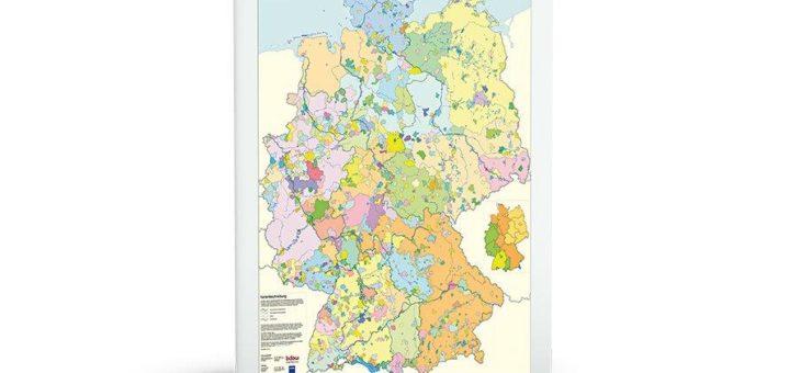 Versorgungsgebiete der Endverteilungsnetze der Stromnetzbetreiber in Deutschland auf einen Blick
