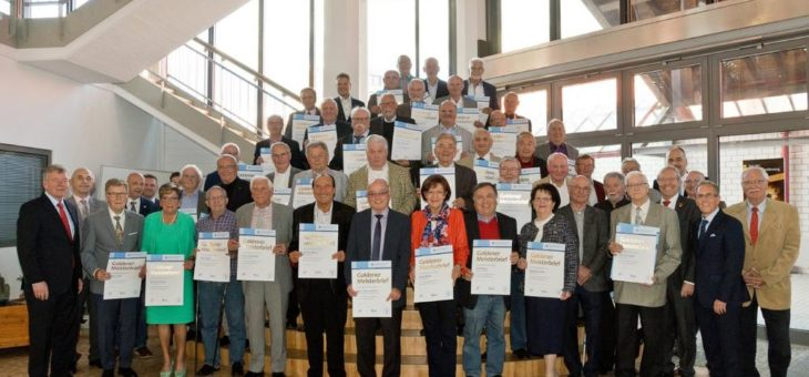 46 Goldene Meister 2019 aus Mannheim und Umgebung haben vor 50 Jahren die Meisterprüfung absolviert