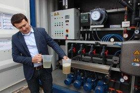 Reinigung von Oberflächenwasser auf Biogasanlagen