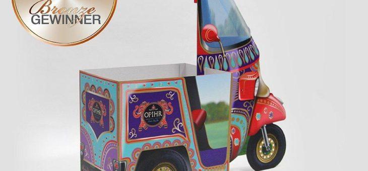 """Effizientes Display """"Opihr-Gin Tuk-Tuk"""" gewinnt bronzenen POPAI Award"""