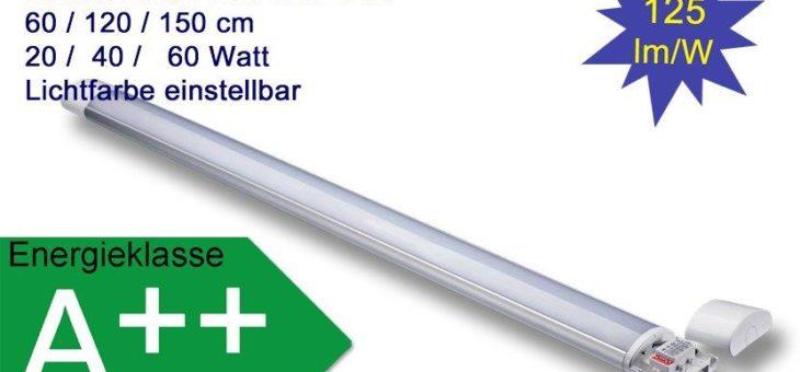 LED Linear Leuchte mit einstellbarer Lichtfarbe und optional mit Bewegungssensor und Notlichtfunktion