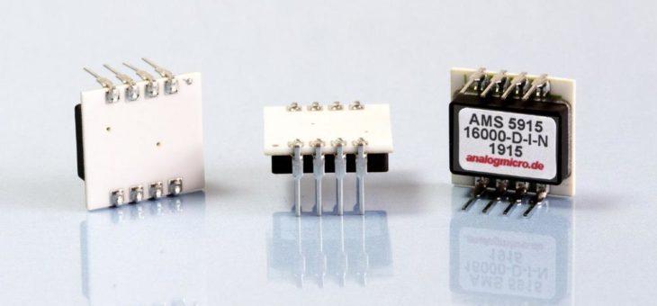 Analog Microelectronics erweitert seine digitale Board Level Drucksensor-Serie AMS 5915