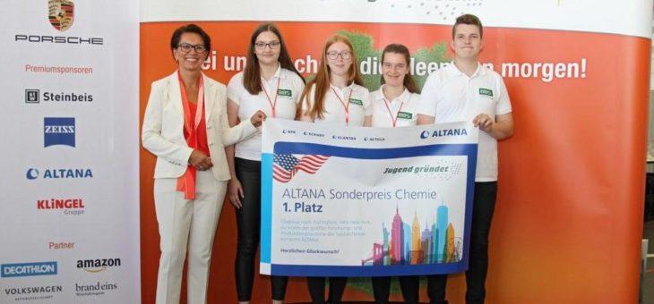 Schülerteam aus Lingen erhält ALTANA Sonderpreis Chemie 2019 für nachhaltige Geschäftsidee