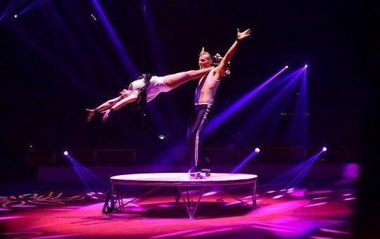 Faszinierende Fusion aus Theater, Zirkus und Varieté bei der GYMMOTION in der Erfurter Messehalle