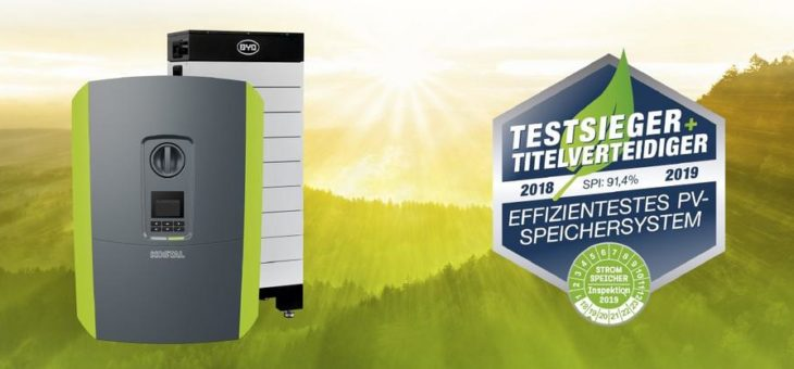 KOSTAL hat weiterhin das effizienteste PV-Speichersystem: Titelverteidigung bei der Stromspeicher-Inspektion 2019