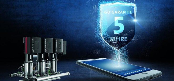 Neu für Druckerhöhungsanlagen – 5 Jahre Sicherheit ab Inbetriebnahme mit der Grundfos Go Garantie