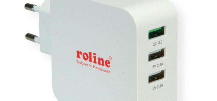 Innovative Ladegeräte mit USB Typ C PD und Quick Charge 3.0 von ROLINE