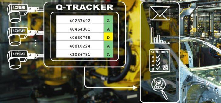 Zentrale und vollständige Qualitätsüberwachung von direktmarkierten Data Matrix Codierungen mit der Q-Tracker Software von IOSS