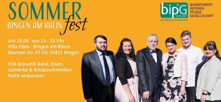 Die bipG VOR ORT lädt zum Sommerfest 2019 ein