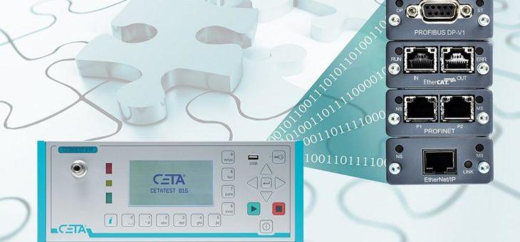CETA-Prüfgeräte mit einer Vielzahl industrieller Schnittstellen für Industrie 4.0 Anforderungen gut aufgestellt