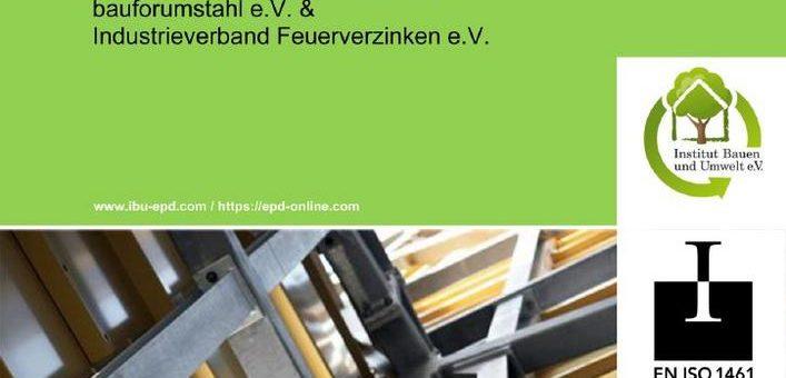 """Umweltproduktdeklaration """"Feuerverzinkte Baustähle"""" jetzt auch in englischer Sprache verfügbar"""