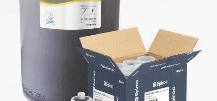Epiroc Bio-Meißelpaste für Hydraulikhämmer in umweltsensiblen Anwendungen