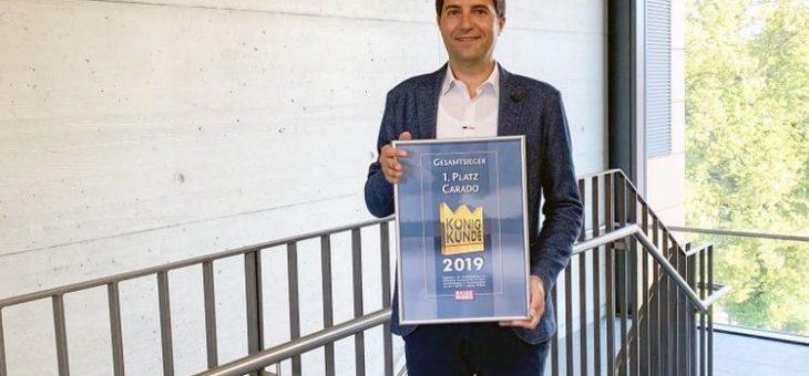 Carado siegt beim König Kunde Award 2019