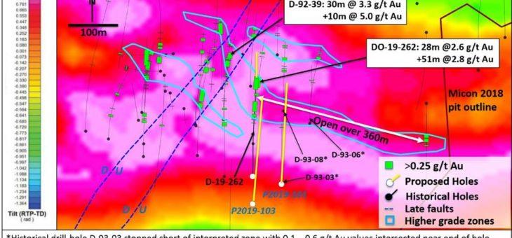 Maple Gold skizziert Folgepläne für Definition höhergradiger Mineralisierung in Zone 531