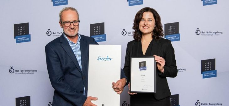 Lüftungssystem freeAir gewinnt ICONIC AWARD: Innovative Architecture