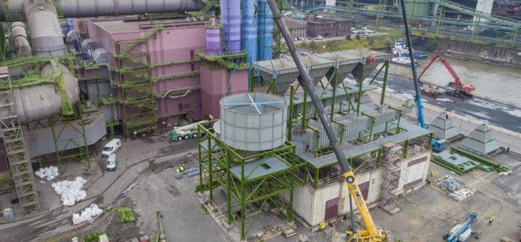 Dritte Tuchfilteranlage in Duisburg nimmt Form an