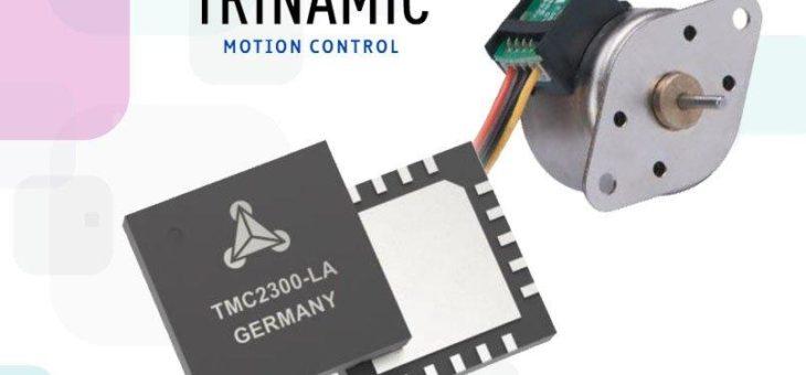 Der TMC2300 bietet die perfekte Lösung für batteriebetriebene Schrittmotoren